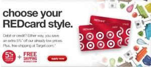 Target 5% card