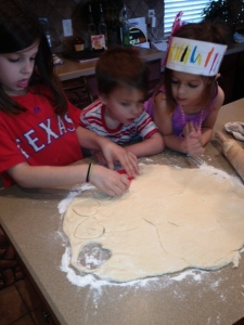 kiddos rolling biscuts