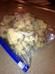 Freezer Chocolate Chip Cookies 3