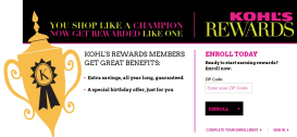 KOHLS REWARDS ENROLL PAGE