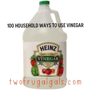 100 household ways to use viniger